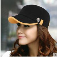 平顶帽子女士军帽韩版潮春秋户外时尚休闲鸭舌帽潮款帽太阳帽