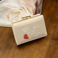 女士钱包短款新款学生韩版可爱果冻多功能小钱夹折叠皮夹子