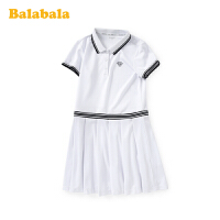 巴拉巴拉女童公主裙儿童裙子2020新款夏装大童连衣裙Polo网球裙潮