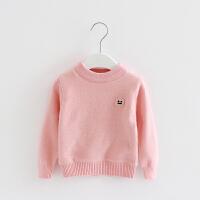 女童毛衣加绒加厚 公主小童女宝宝2018装 婴儿幼儿套头打底衫