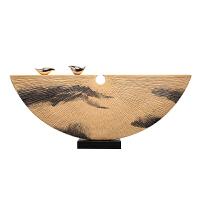 客厅摆件创意家居家庭装饰品酒柜卧室玄关中式禅意小鸟树脂工艺品 A 56*21cm