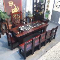 泡茶茶几客厅茶桌椅组合新中式实木家具阳台简约茶台 整装