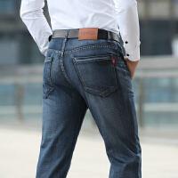 655春夏新品吉普Jeep中腰直筒牛仔裤 男士弹力牛仔长裤 青年休闲牛仔裤 牛仔蓝