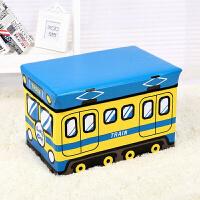 大号汽车收纳凳储物凳子可折叠玩具卡通收纳箱生活日用创意家居 大号