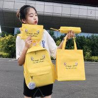 小学生书包女2021新款韩版初中高中学生校园简约百搭双肩包小清新