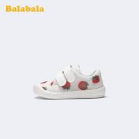 巴拉巴拉官方童鞋小白鞋女童儿童帆布鞋草莓防蚊2020新款夏季鞋子