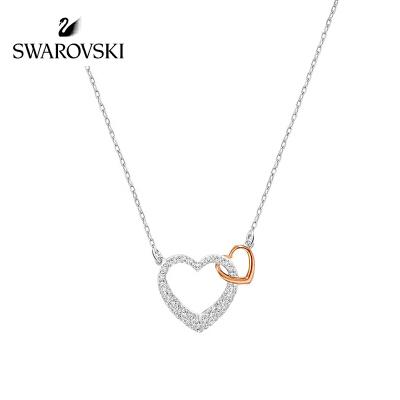 SWAROVSKI/施华洛世奇 双心密镶水晶般质地项链 5156815正品保障(可使用礼品卡)