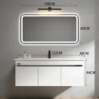 北欧浴室柜不锈钢洗手洗脸盆柜组合卫生间洗漱台现代简约面盆卫浴