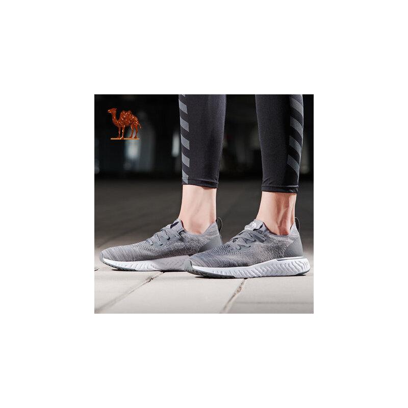 骆驼运动鞋男 新款冬季轻便休闲鞋飞织透气男鞋子系带跑步鞋