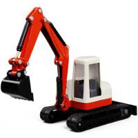 华一 1:60 合金工程车 挖掘机模型 挖土机玩具车 儿童玩具车模型