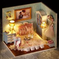 创意diy小屋幸福一刻手工创意制作成人模型房子送女友生日礼物