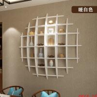 展示架创意格子墙壁墙上置物架挂墙装饰壁挂客厅创意格子墙面实木卧室简约展示架
