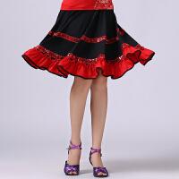 广场舞服装中老年套装时尚新款蕾丝上衣亮片大摆裙演出服