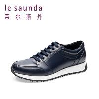 莱尔斯丹 春新款运动休闲鞋圆头系带男鞋9MM80601