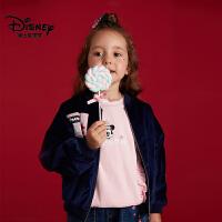 【到手价:119.6元】迪士尼宝宝女童丝绒外套2018冬款上新0-8岁宝宝