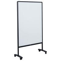 得力白板支架式可移动磁性手写板钢化玻璃单面立式办公教学家用培训补习涂鸦绘画易擦车间手写计划板