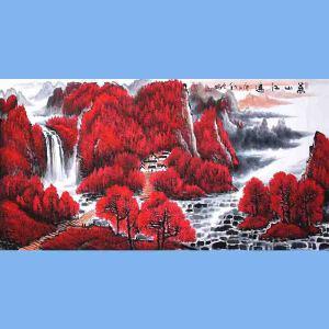 中国青年美术家协会常务理事,中国山水画院专业画家,国家一级美术师高云鹏(万山红遍)5