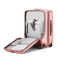 20寸电脑登机箱女前置拉杆箱旅行箱密码万向轮商务迷你飞机行李箱 20寸