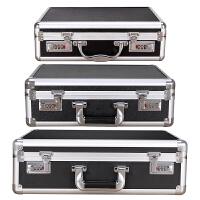 大中小号手提密码箱A4文件保险箱钱箱铝合金工具箱证件资料公文箱