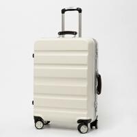 旅行箱女24寸拉链拉杆箱万向轮铝框行李箱20寸登机密码箱