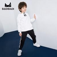 【3件2折:79.8】巴拉巴拉旗下 巴帝巴帝男童加绒套装简约时尚休闲卫衣2018冬季