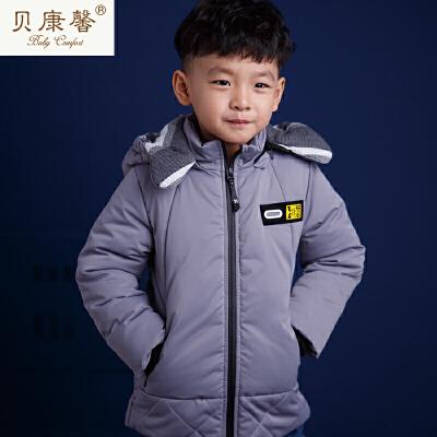 [当当自营]贝康馨冬装 男童羽绒棉印花保暖连帽棉服 支持货到付款