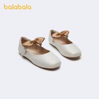 【3件4折:95.6】巴拉巴拉女童鞋子公主鞋精致小皮鞋中童甜美文�2020新款春秋鞋子