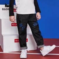 【限时抢:55】巴拉巴拉旗下 巴帝巴帝2019春季新款男童裤子时尚宽松牛仔裤