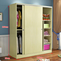 衣柜简易简约经济型现代推拉门衣柜2门简易组装移门衣橱实木板式卧室 2门组装