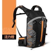 户外运动骑行背包超轻可折叠徒步登山越野跑步水袋包双肩男女10L 桔色 活力橙 10升(新品)