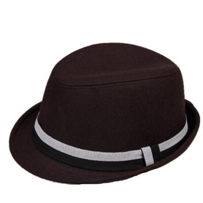 秋冬时尚卷边男士帽子 英伦羊毛呢加大码礼帽爵士帽 加厚羊毛呢料 加大头围 帽型挺括有型