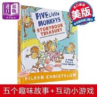 【中商原版】【送音频】五只小猴子5个故事合集 儿童英文绘本 Five Little Monkeys