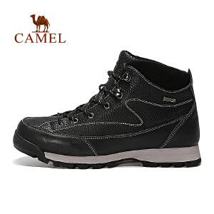 camel骆驼户外男款徒步鞋 男士高帮减震防滑户外鞋