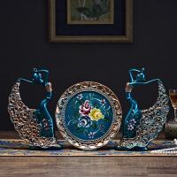 创意家居欧式大象花瓶电视柜摆设天鹅摆件客厅酒柜装饰品新婚礼物