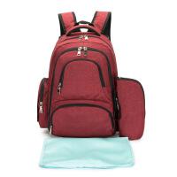 新款母婴双肩背包 源头大容量欧美时尚尿布包妈咪包订制