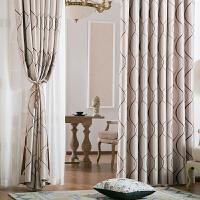 成品窗帘欧式简约客厅卧室遮光遮阳布艺布料