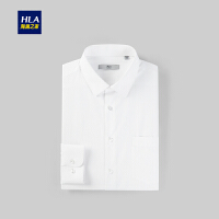 HLA/海澜之家商务正装衬衫2019春季新品绅士花纹长袖衬衫男