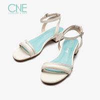 【顺丰包邮,大牌价:298】CNE2019夏季新款凉鞋女仙女风晚晚鞋玛丽珍鞋chic风凉鞋AM23702