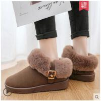 毛毛雪地靴女新款冬季短筒韩版百搭学生棉鞋女加绒加厚短靴子