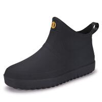 雨鞋男士短筒防水鞋帅气雨靴低帮套鞋厨房钓鱼胶鞋户外塑胶生活日用雨具
