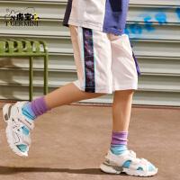 【3件2折:41.8元】小虎宝儿男童短裤五分裤儿童运动夏季中大童2021年新款宽松