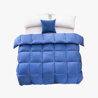 当当优品双人加大冬被 水洗棉纯色羽丝春秋被芯220x240cm被子 蓝色