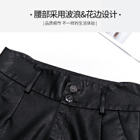 新款秋冬皮短裤女黑色修身显瘦大码外穿PU皮裤打底靴裤