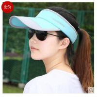 男士夏天户外 运动帽女士遮阳帽太阳帽空顶 帽女夏季 凉帽无顶帽