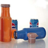 500ML双层不锈钢真空保温杯 翻盖可乐瓶杯子大容量车载可乐杯子携学生可乐杯男女个性潮流水杯子随行杯 蓝色