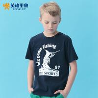 【两件1.3折价:21.7元】英格里奥童装夏装男童圆领短袖T恤儿童休闲装9520