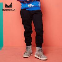 【2件3折价:39】巴拉巴拉旗下 巴帝巴帝男童加绒长裤黑色时尚休闲2018冬季新款