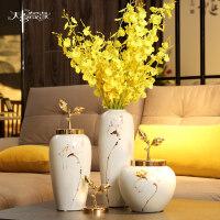 时尚现代简约花瓶摆件现代欧式陶瓷花瓶摆件客厅餐桌轻奢小清新家居摆设插花瓶子装饰品
