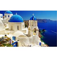 1000片木质拼图1500唯美风景 浪漫爱情海希腊爱琴海 圣托里尼