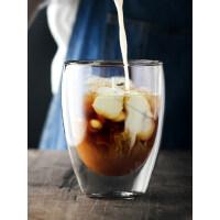 双层隔热耐热玻璃咖啡杯双层保温加厚玻璃杯泡茶杯水杯果汁随手杯